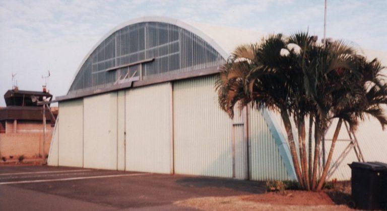 Closed Aircraft Hangar